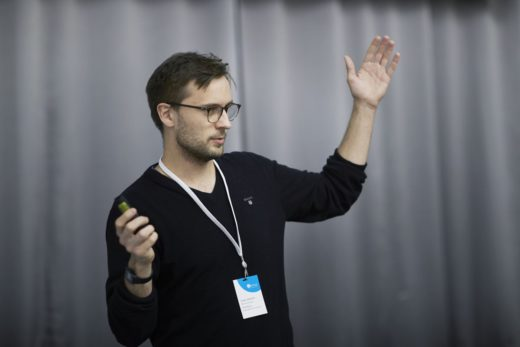 Carl Martin Rosenberg holds a talk at Certus UPW'12 (Photo: Bård Gudim)